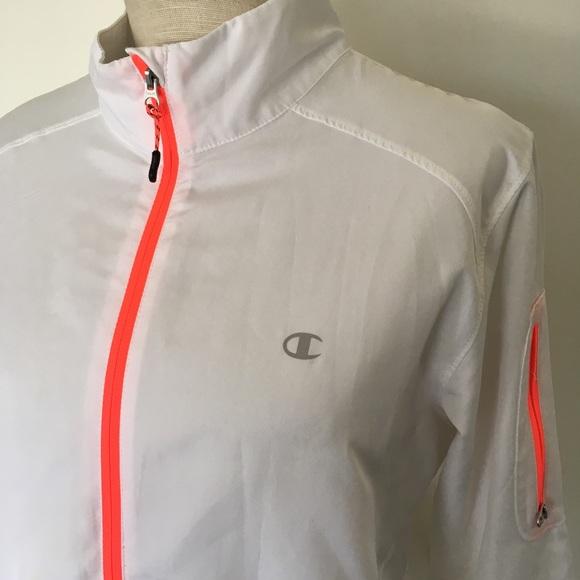 2c32aaa895c3 Champion Jackets   Blazers - CHAMPION ~ white   neon orange windbreaker  jacket